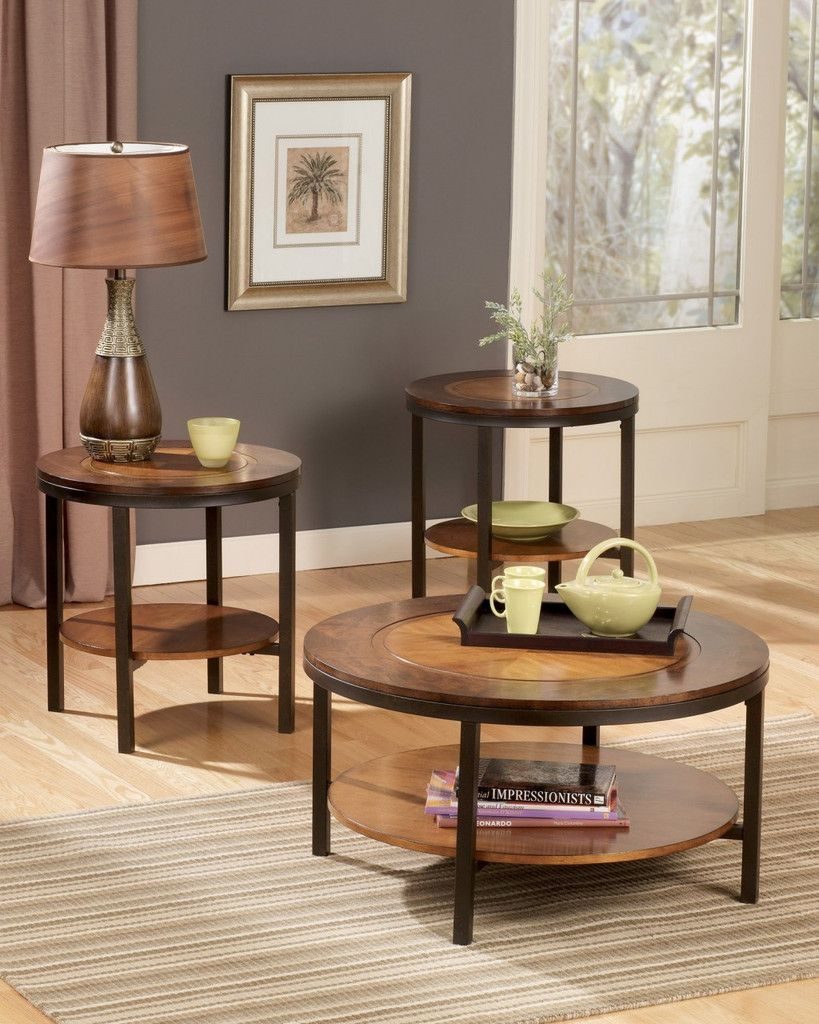 Ashley Furniture T213 13 Triad Coffee Table Set Coffee Table