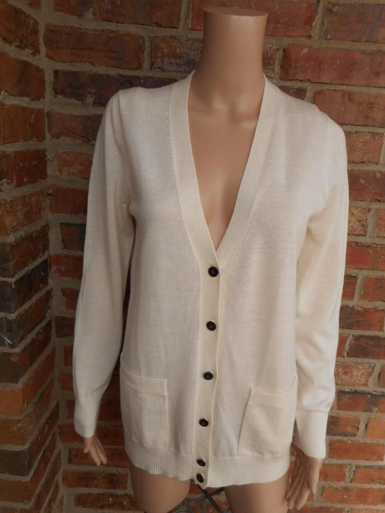 J.CREW Women Eden Cardigan Size M 100% Merino Wool Sweater 46727 ...
