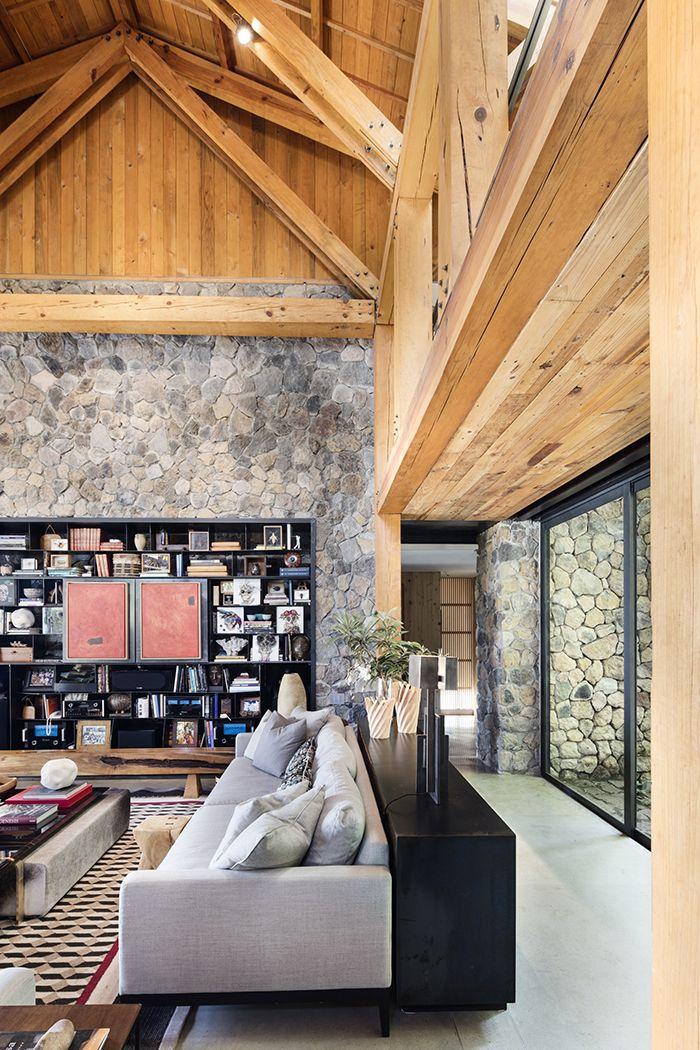 Pierre et bois pour une maison d'architecte | Maison darchitecte, Maison et Cabinet d architecture