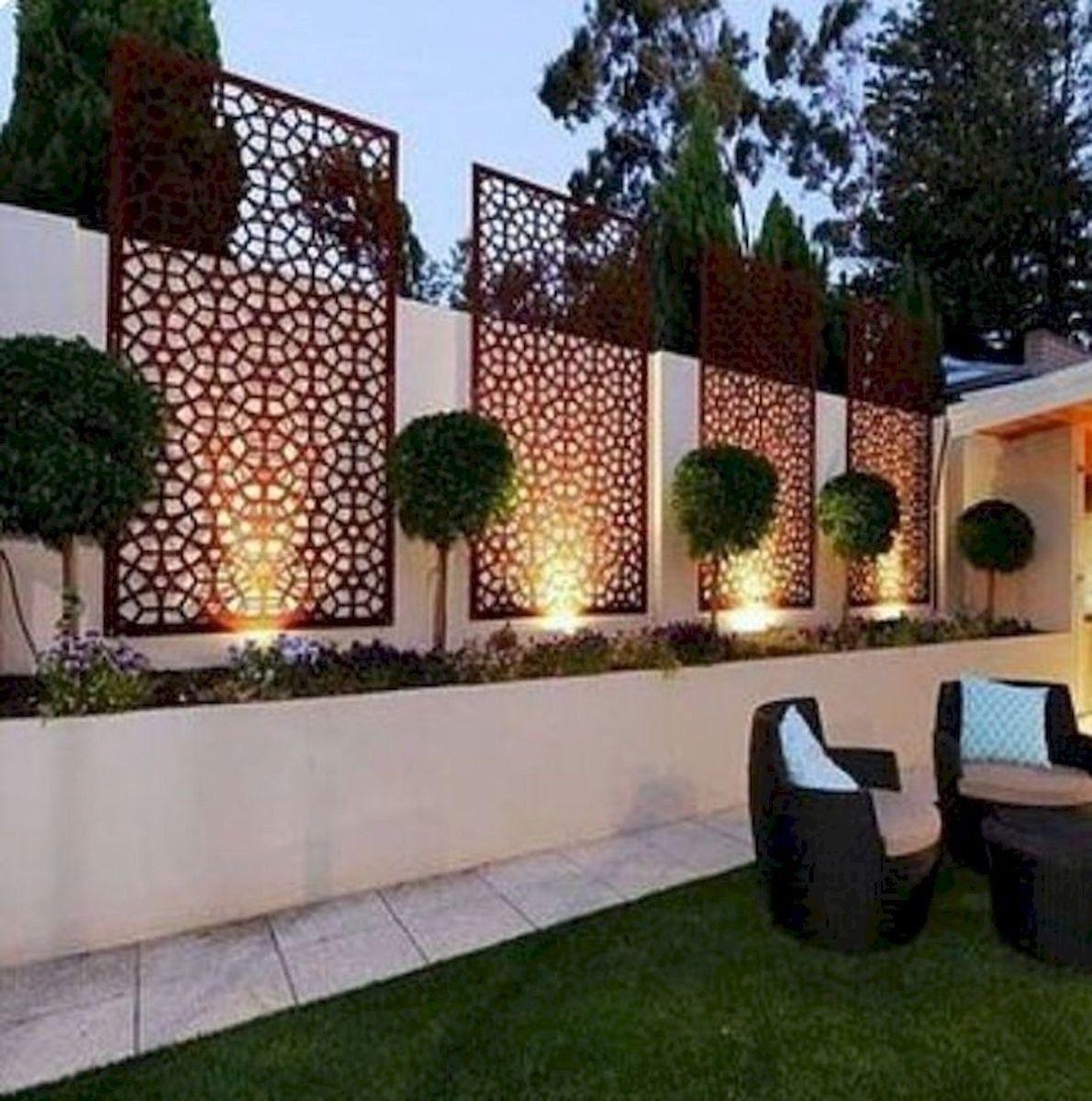 78 Ideas Of Modern Garden Fence Designs For Summer Ideas 73 Home Decor Diy Design Backyard Landscaping Designs Backyard Backyard Landscaping