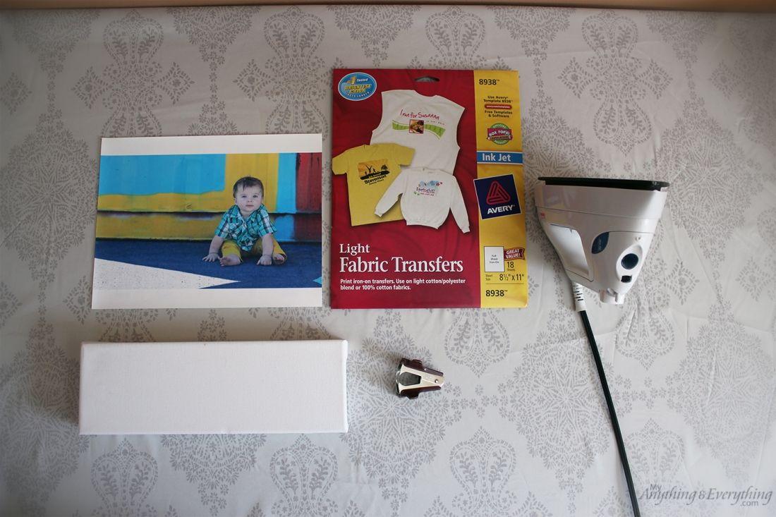 Photo to Canvas Tutorial using iron-on heat transfers ...