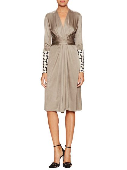 Penelope Printed Sleeve Silk Wrap Dress by Issa at Gilt