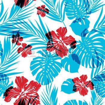Seamless Hawaiian Pattern Wallpaper Bright Seamless Summer Pattern Classy Hawaiian Pattern