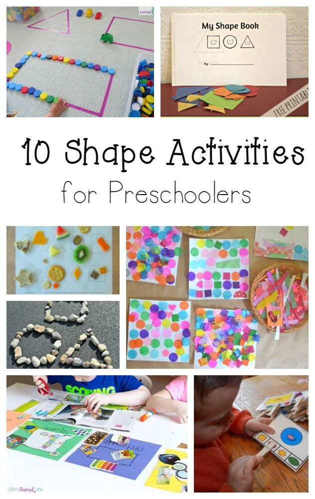 20 Shape and color activities for preschool Preschool