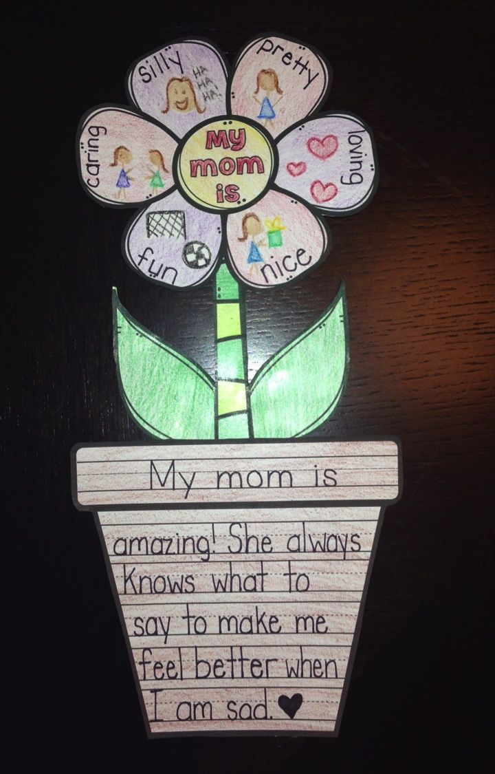 Mother S Day Activity Flower Writing Craft April May