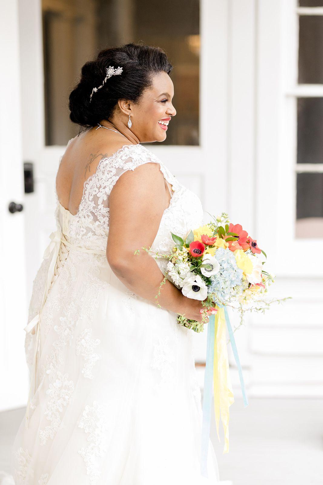 Joyful bride with a bright bouquet | A Bright, Colorful Wizard of Oz ...