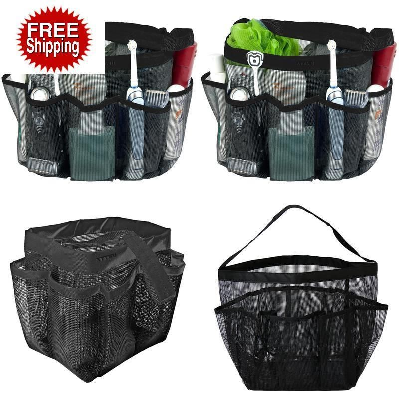 Attmu Mesh Shower Caddy, Quick Dry Shower Tote Bag Oxford Hanging ...