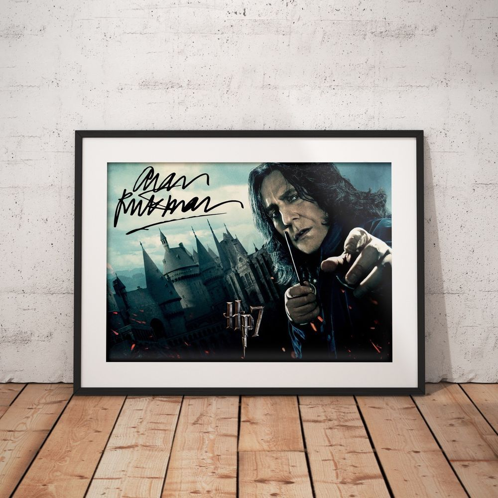 A3 A4 OSW Alan Rickman Professor Snape Harry Potter Signed FREE Shipping