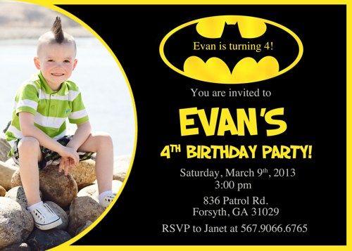 Download Batman Birthday Invitations Ideas FREE Printable - birthday flyer templates free