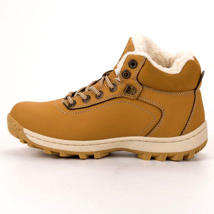 Ax Boxing Ocieplane Buty Trekkingowe Zolte Trekking Shoes Hiking Boots Women Shoes