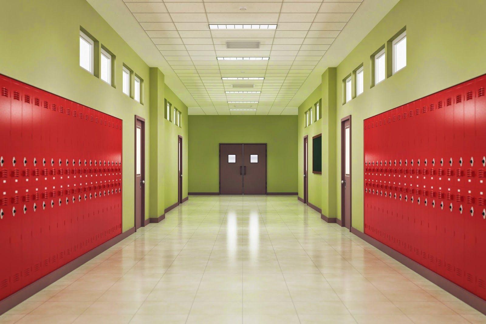 Beautiful School Hallway