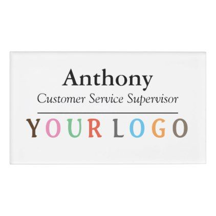 Name badge magnet custom logo employee staff large custom logos name badge magnet custom logo employee staff large business templatesname wajeb Gallery