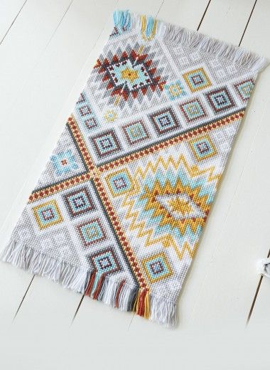 indian cross stitch rug kit bergere de