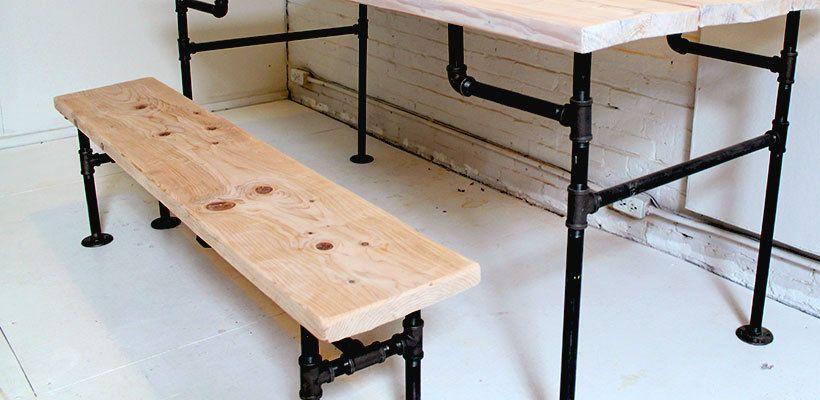 banc bois et métal (tutoriel gratuit - DIY)