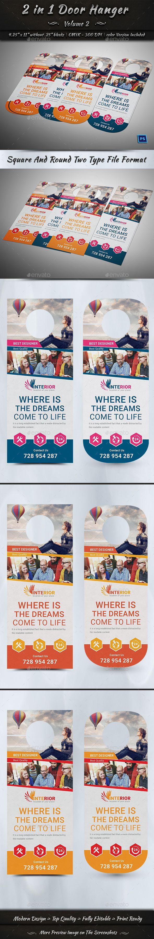 2 in 1 Door Hanger   Volume 2   Hanger, Door hanger template and ...