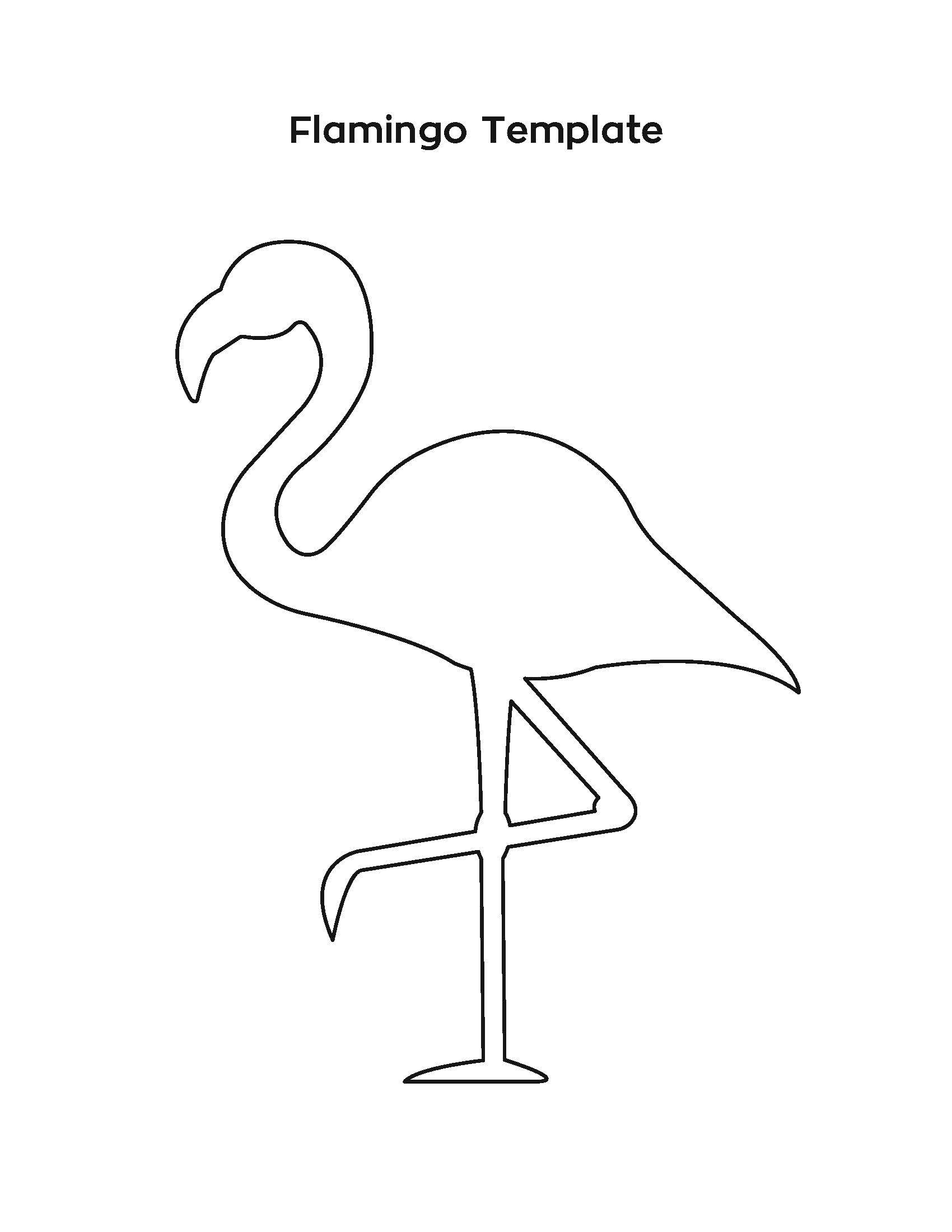 Flamingo Stencil Outline