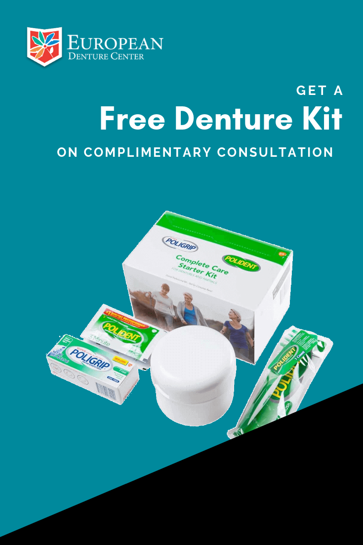 We are currently offering a complimentary denture kit