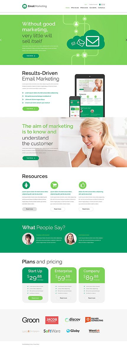 EMail Marketing Services Website Template Themes Business