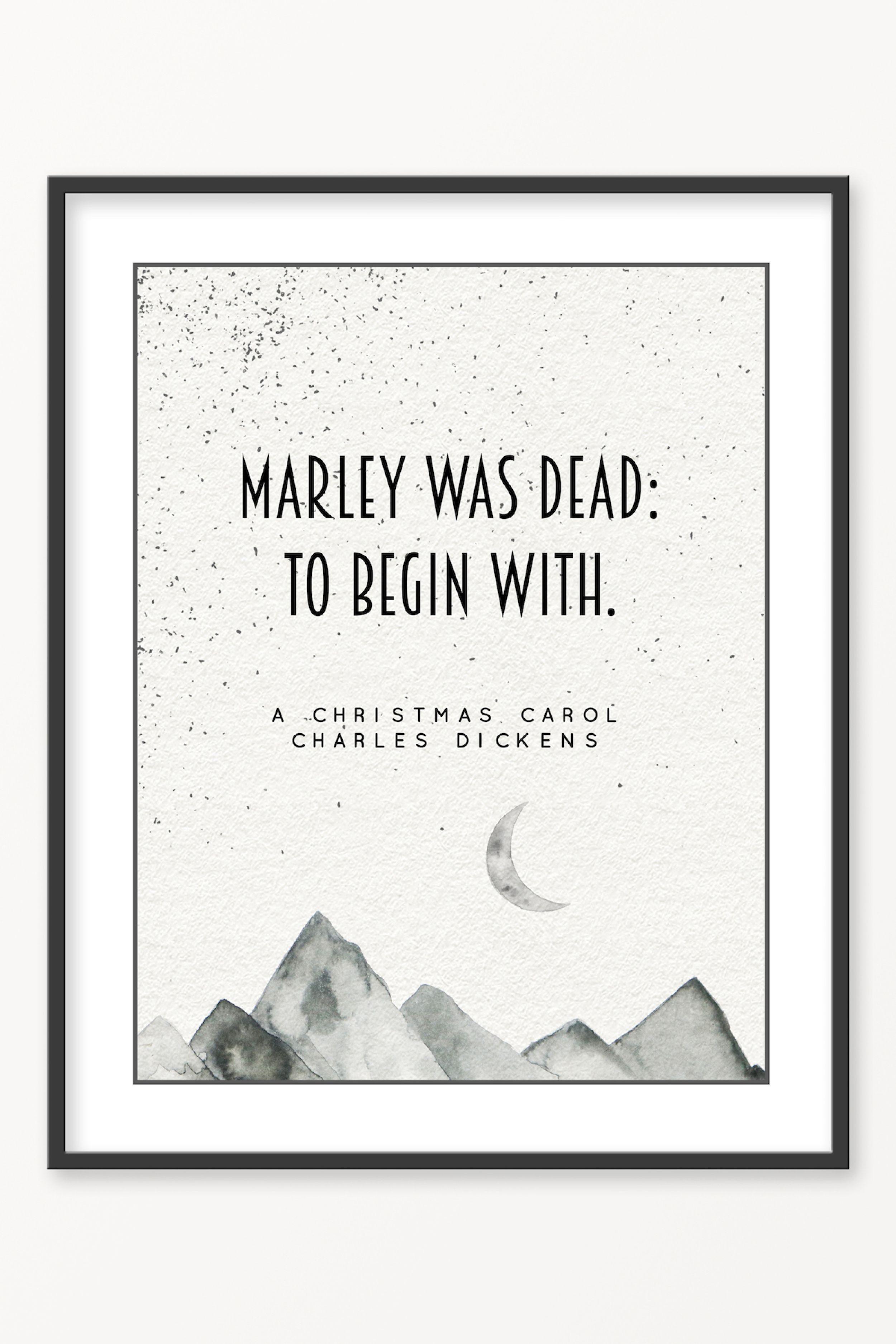 A Christmas Carol Charles Dickens Literary Poster