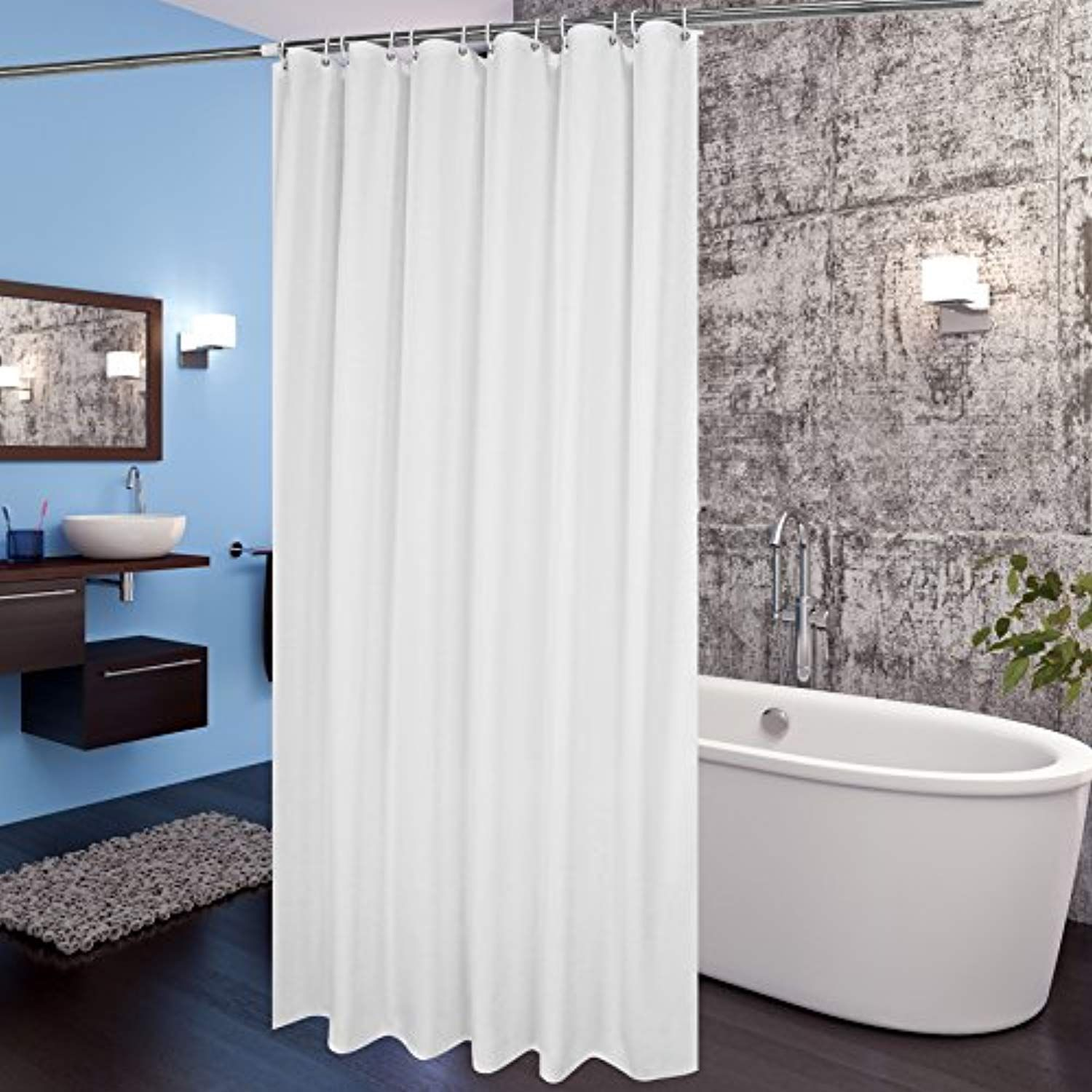 Aoohome fabric shower curtain x inch extra long shower curtain