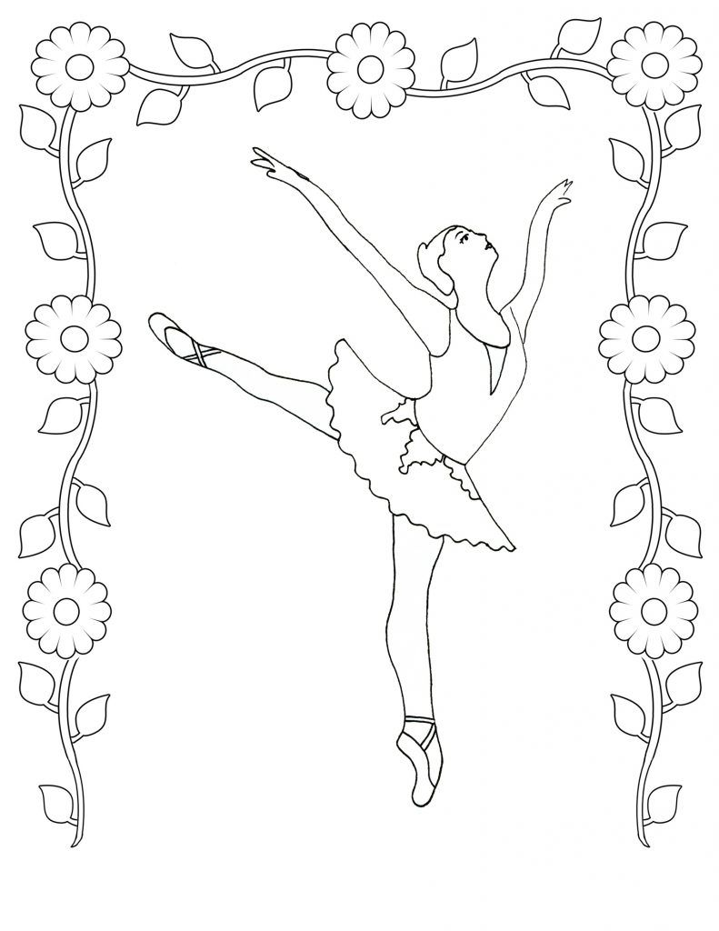 free printable ballet coloring pages for kids diy picture quilts