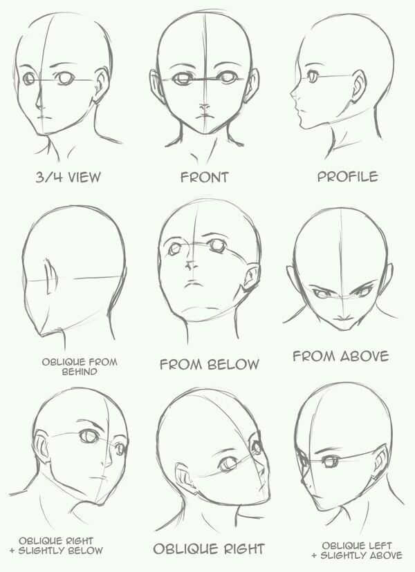 Face Angles Anime Drawings Drawing Tips Art Drawings