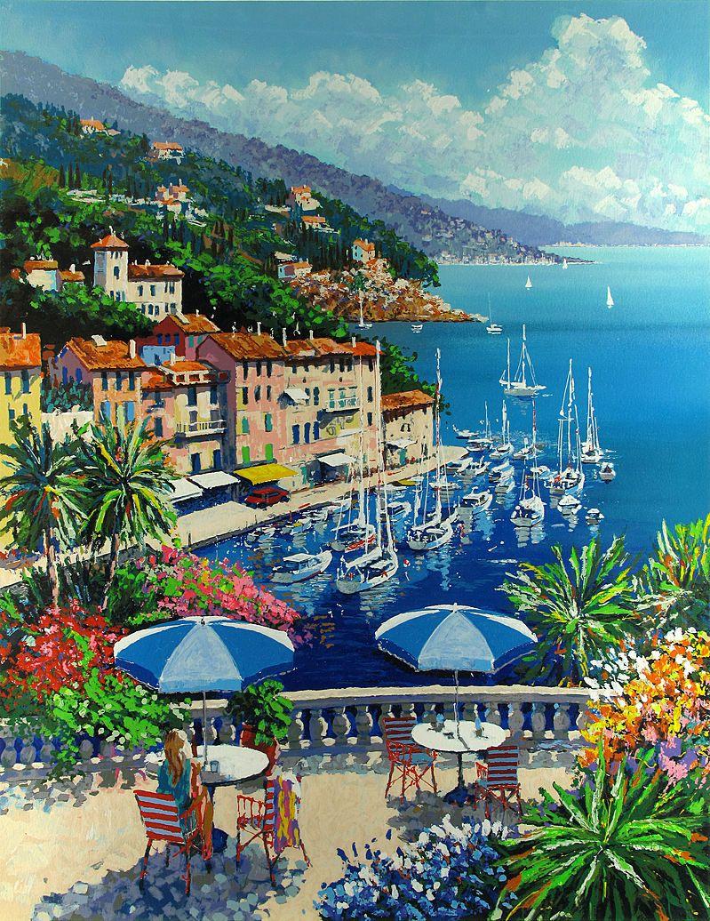 KERRY HALLAM | PINTURAS | Seaside art, Art y Canvas ...