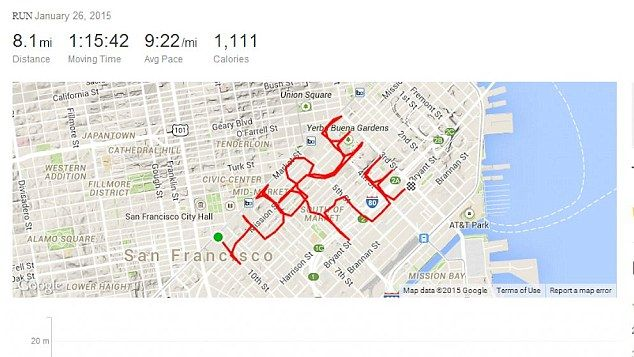 Man spells 'hire me' on running app to get job Track