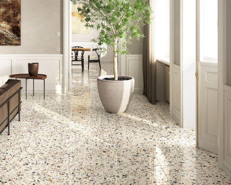 新製法で人気呼ぶ 現代版テラゾー 骨材練り込みの セラミックタイル が登場 Abc商会 Terrazzo Flooring Flooring Terrazo Flooring