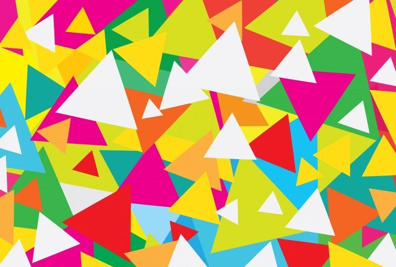 Abstract Triangle Pattern Artistic Color  | Android Wallpaper