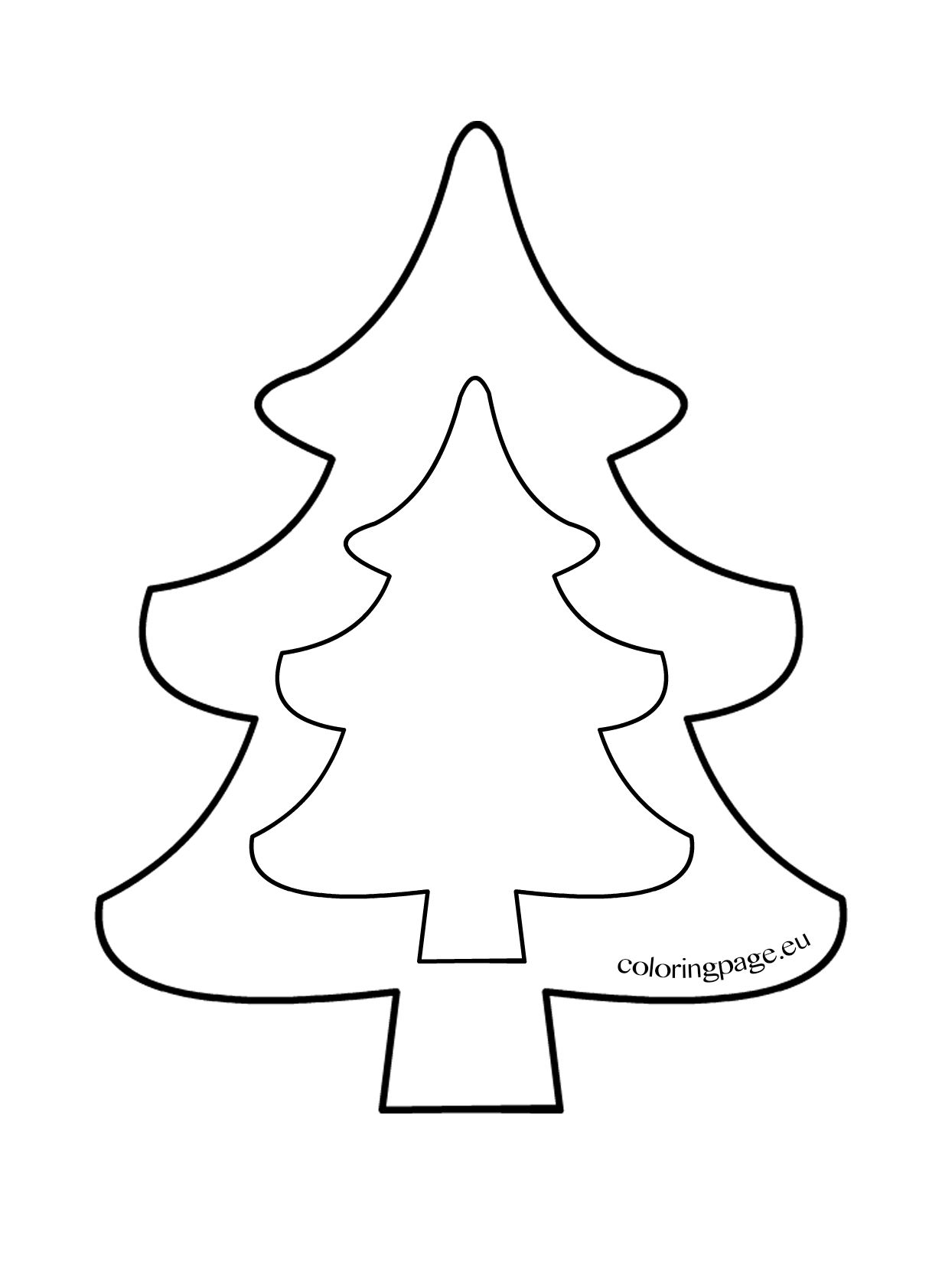 christmas tree template to print