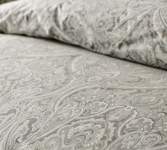 Mackenna Paisley Duvet Cover Sham Taupe Duvet Cover Pattern Paisley Duvet Paisley Bedding