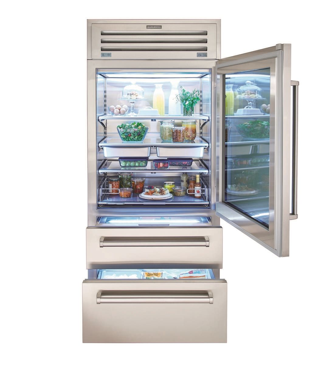 36 Pro Refrigerator Freezer With Glass Door Glass Door