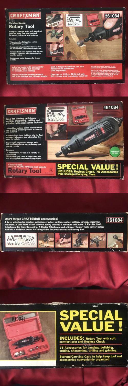 Rotary Tools 177003 Craftsman Rotary Tool Kit Buy It Now Only 45 On Ebay Rotary Tools Craftsman Rotary Tool Tool Kit Rotary