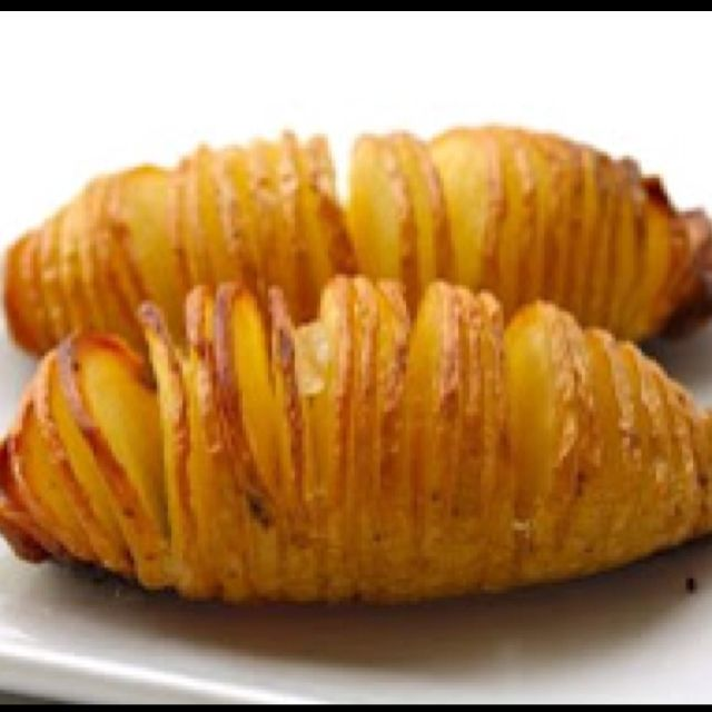 Hasselback Potatoes  Ingredients  6 Medium Size Potatoes 2 - 3 Cloves Garlic, thinly sliced 2 Tbsp Olive Oil 30 g Butter Maldon Sea Salt Freshly Ground Black Pepper  Method  Preheat the oven to 220˚C (425˚F). Put the potato on a chopping board, flat side down. Start from one end of the potato, cut almost all the way through, at about 3 to 4 mm intervals.  Arrange the potatoes in a baking tray and insert the garlic in between the slits. Scatter some butter on top of each potato. Then drizzle…