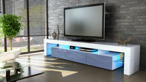 Mobile Tv Moderno Led : Mobile tavolo porta tv moderno laccato lucido salotto soggiorno