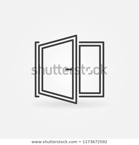 Window Icon Vector Open Window Symbol Or Logo Element In Thin Line Style Open Window Icon Windows