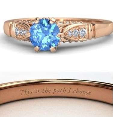 Pocahontas This Is The Path I Choose Engagement Ring By Gemvara