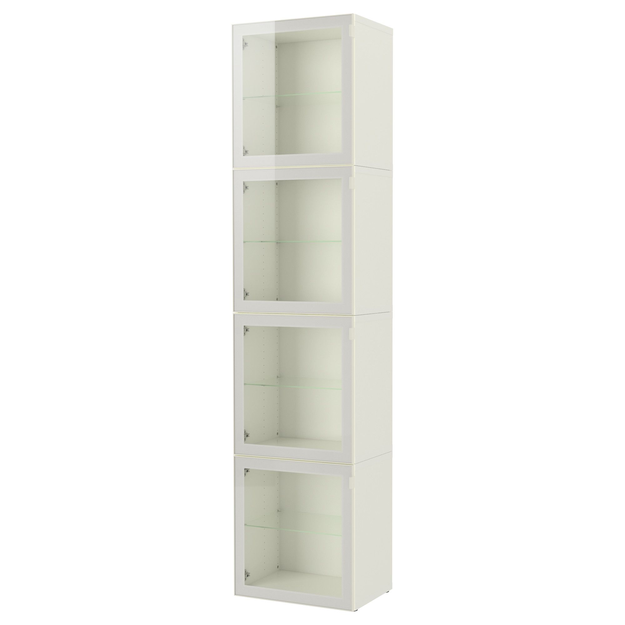 bestà storage bination with glass door white glassvik clear