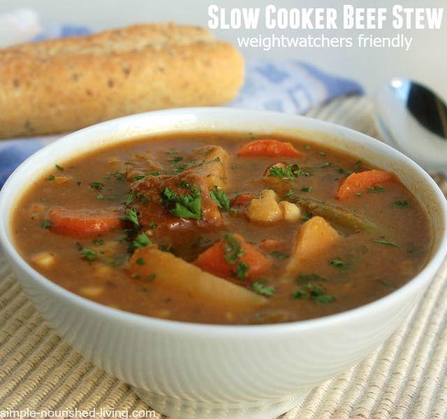 Weight Watchers Crock Pot Ideas: Hearty Slow Cooker Beef Stew
