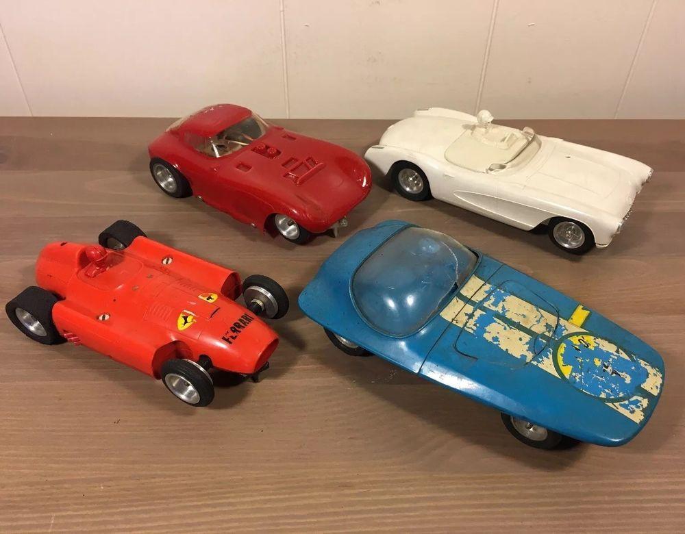 VINTAGE Antique SLOT Indy Race CAR Kit LOT Ferrari Chevy