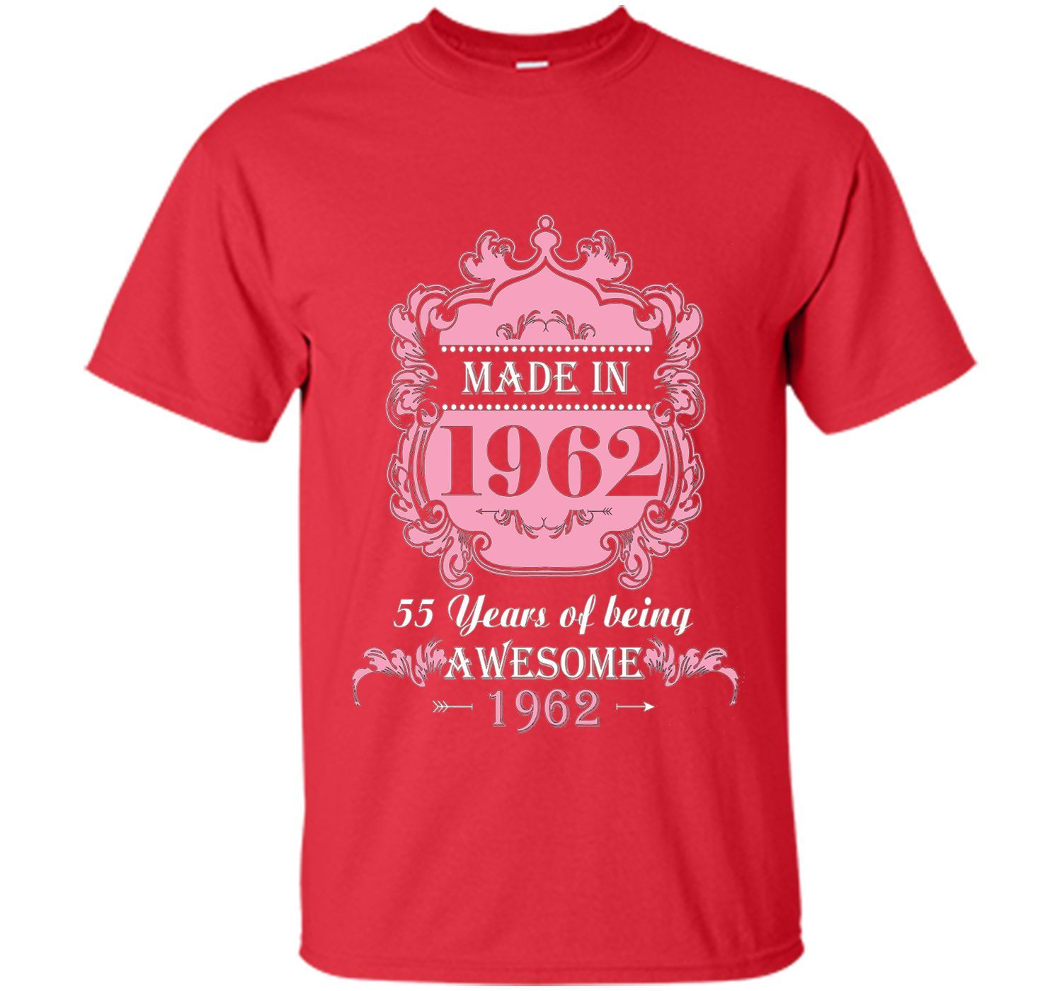Made In 1962 T Shirt 55 Years Old 55th Birthday Gift