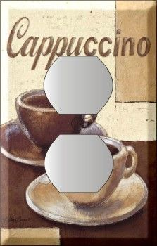 Kitchen Decor · COFFEE CAPPUCCINO CUP ITALY CLASSIC SINGLE DUPLEX OUTLET  COVER PLATE/$8.58