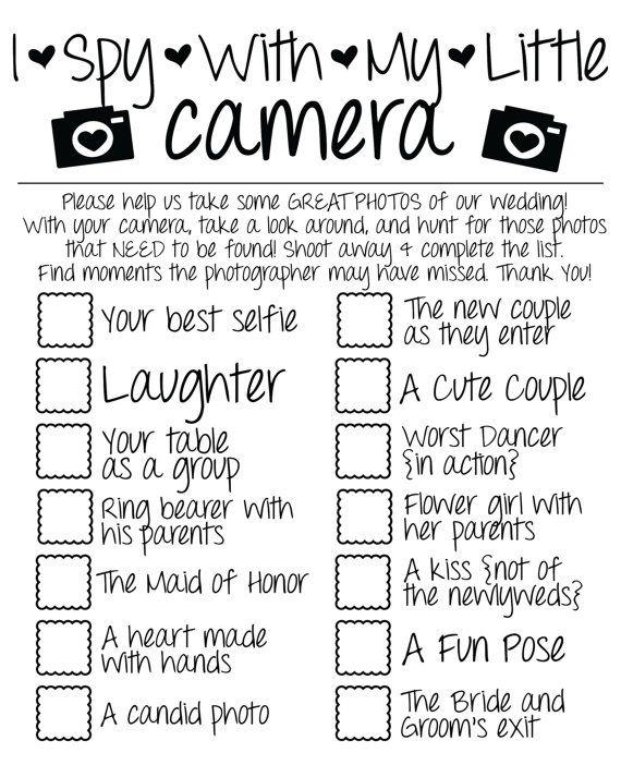 I Spy Wedding Game Photo Checklist Instant Download Wedding Games I Spy Wedding Game Photo Checklist