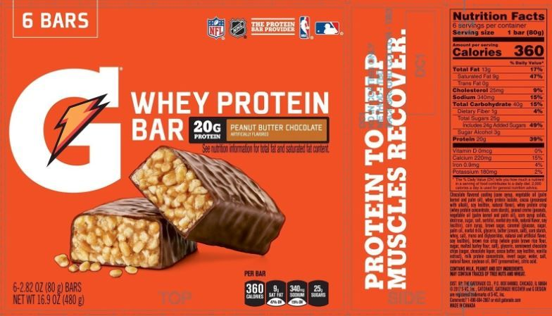 The Daily Value For Added Sugars On Gatorade Peanut Butter Chocolate Whey Protein Bar Lets Consumers Kn Nutrition Facts Label Whey Protein Bars Nutrition Facts