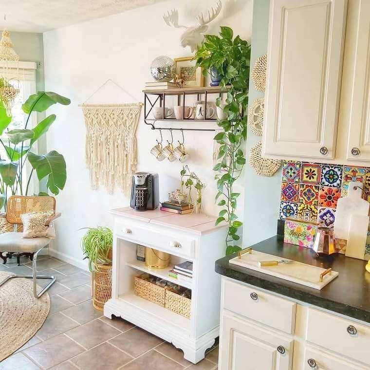 10 Boho Chic Kitchen Interior Design Ideas: TILE ------boho Style Kitchen 17 (36)