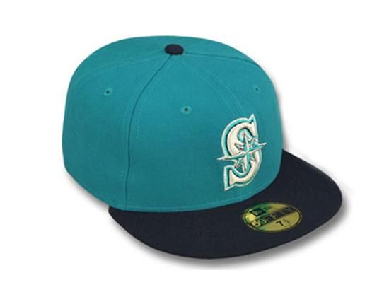 best service baff6 6b90e Seattle Mariners 1994 Cooperstown Alternate 59Fifty Fitted Baseball Cap by  NEW ERA x MLB