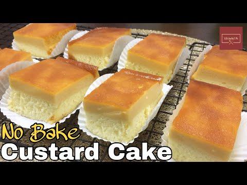 Steamed Custard Cake Kitchenet Ph Youtube Custard Cake Custard Cake Recipes Steam Cake Recipe