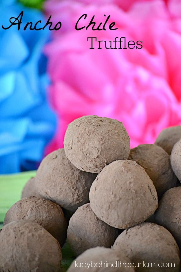 These Ancho Chile Truffles have a little surprise waiting for you.  They are like no truffle you've ever tasted!