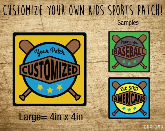 LARGE Rounded Square Baseball Custom Patches